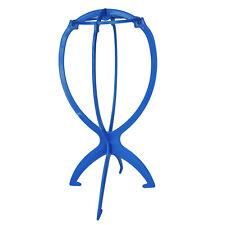 Espositore Supporto Porta in Plastica per Parrucca Parrucchino Colore Azzur D7N8