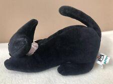Jellycat Pouncing Katarina Cat Black Kitten Soft  Cuddly Toy Beanie Velvet