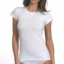 3 Pezzi Maglia Canottiera Donna Intima Forma Seno Cotone Raso Underwear r-64