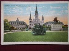 POSTCARD USA LOUISIANA NEW ORLEANS - JACKSON SQUARE