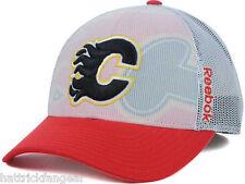 Calgary Flames Reebok Nx28Z Nhl Team Logo Draft Meshback Hockey Cap Hat