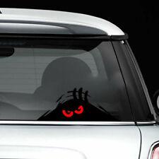 Funny Decal Window Bumper  Vinyl  Car Sticker Red Eyes Monster Peeking