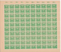 Stamp Germany Revenue Sheet 1942 WWII 3rd Reich War Era Party Dues 02.30 MNH