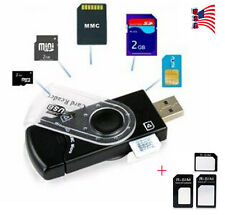 USB SIM Card Reader Editor SMS Backup GSM / CDMA +CD Deleted Text Recovery