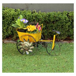 Wagon Planter Yellow Resin Outdoors Indoors Gardening