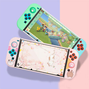 For Nintendo Switch Full Screen Tempered Glass Protector Film Color Border 2pcs
