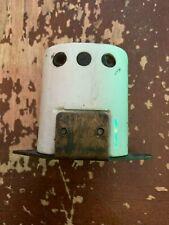 Antique Circa 1900 Porcelain Base English 3 Way Light Switch