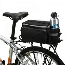 Black Large Bike Bicycle Seat Bag Rear Rack Pack Luggage Bag Pannier Handbag