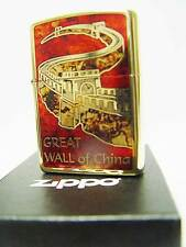 Zippo® golden Great Wall of China Chinesische Mauer Special Edition New/NeuOVP