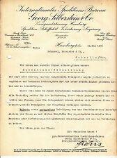 Dokument Speditions Bureau Georg Silberstein & Co Hamburg 1936 ! (D1