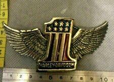 """""""1"""" American Flag Harley Davidson Belt Buckle"""