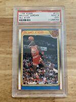 Michael Jordan PSA 9 OC Man Cave 1988 Fleer All Star ICONIC DUNK SLABBED INVEST
