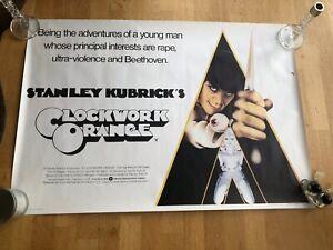 CLOCKWORK ORANGE ORIGINAL BRITISH  FILM POSTER RARE FROM 1971