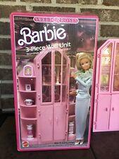VINTAGE BARBIE SWEET ROSES 3 PC WALL UNIT FURNITURE SET W/ ACCESSORIES/BOX  1987