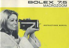 Bolex 7.5 Macrozoom Instruction Manual
