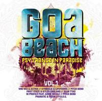GOA BEACH VOL.1-PSYTRANCE IN PAR  2 CD NEU