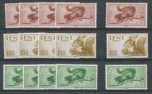[P716] Ifni 1955 fauna good set very fine MNH stamps (5x)