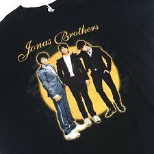 Jonas Brothers Nick Kevin Joe 2008 Music Concert Tour Black T Shirt Size M