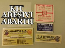 KIT ADESIVI FIAT ABARTH 500 595 695 600 850 1000 A112 RITMO 130 UNO TURBO DELTA