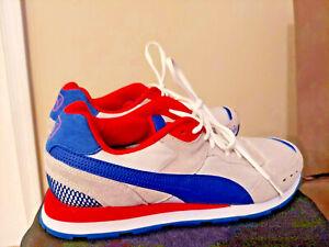 Puma Vista 369365-26 Size 12 Men's Very Used Red/Blue