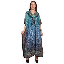 Paisley Women's Long Kaftan Lady Nightwear Dress Maxi Free Size Dresses