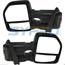 FOR 15-17 18 Ford F150 Pickup Towing Mirrors 8-PIN Power Heated LED Signals Pair