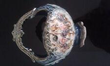 Unusual Antique Pottery China Basket Marked 744 Glazed
