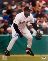 MO VAUGHN SIGNED AUTOGRAPHED 11x14 PHOTO BOSTON RED SOX PSA/DNA