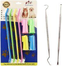 Dog & Cat Toothbrush Finger Toothbrush Dental Scaler & Scraper Tool For Dogs S,L