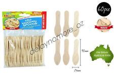 60 mini Wooden Spoons Craft Scrapbooking Ice Cream DIY School Project NEW