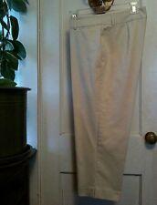 FREESHIP  Khaki Cotton Capri Pants Size 10 Rafaella Worn Once Modern Classic EUC