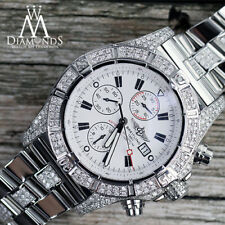 Breitling Super Avenger White Dial A13370 Middle Diamond Band Men's Watch