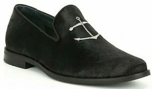 Mens Sperry Top-sider Overlook Smoking Loafers Shoes Size 8 Black Pony Hair New