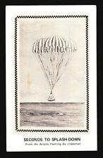 Space Postcard - Cheeseman Splash-Down  - L517
