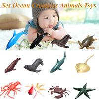 12Pcs/Set Plastic Ocean Animals Figure Sea Creatures Model Toys Dolphin
