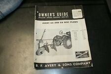 Avery Ea Amp Eb Disc Plows Owners Guide Form No R217 2m 2 15 Pinp 87 Plo 42b 2
