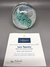 Caithness Lace Tapestry 2007 Paperweight Helen MacDonald - With Certificate