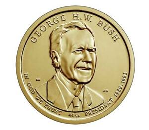2020 George H.W. Bush Presidential Dollar Coin Unc. From Mint Roll single coin