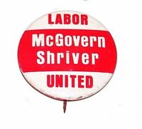 1972 GEORGE MCGOVERN campaign pin pinback button political presidential election