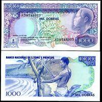 ST. THOMAS & PRINCE 1000 1,000 DOBRAS 1989 P 62 UNC