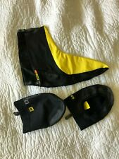Mavic L shoe covers and toe covers black and yellow exc. condition