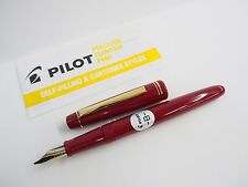 1 X Red PILOT 78G Broad  nib Fountain Pen one cartridge included(Japan