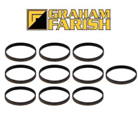 Graham Farish 379-423 Ivatt 2MT Tender Traction Tyres (x10) N Gauge