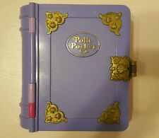 100% complete vintage 1995 Bluebird Polly Pocket Sparkling Mermaid purple book
