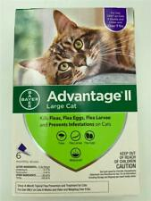 New 6 Pack Advantage Ii Large Cat Topical Flea Prevention Over 9 lbs Bayer