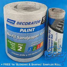 Norton No-fil Adalox Sandpaper Roll P120 115mmx10m