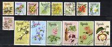 UGANDA STAMPS- Flowers , set of 15, 1969  FU #