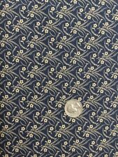 1/2 Yard Reproduction Fabric By Paula Barnes, Indigo 6956-0150