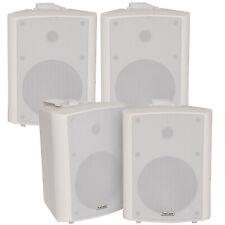 "4x 90w White Wandmontage Stereo Lautsprecher –5.25"" 8 Ohm – Qualität Home Audio Musik"