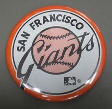 "☆ Authentic NEW 1980's era 3.5"" MLB Team Pin Button - SAN FRANCISCO GIANTS"